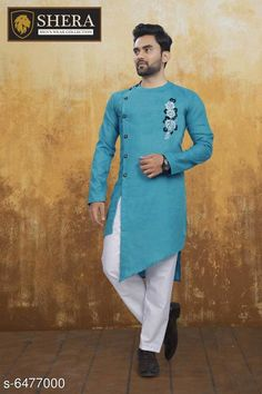 Checkout this latest Kurta Sets Product Name: *Attractive Men's Wear Kurta set* Top Fabric: Cotton Bottom Fabric: Cotton Blend Scarf Fabric: No Scarf Sleeve Length: Long Sleeves Bottom Type: Straight Pajama Stitch Type: Stitched Pattern: Embroidered Sizes: M (Chest Size: 41 in, Top Length Size: 44 in, Bottom Waist Size: 30 in, Bottom Length Size: 42 in)  L (Chest Size: 43 in, Top Length Size: 44 in, Bottom Waist Size: 32 in, Bottom Length Size: 42 in)  XL (Chest Size: 45 in, Top Length Size: 44 in, Bottom Waist Size: 34 in, Bottom Length Size: 42 in)  XXL (Chest Size: 47 in, Top Length Size: 44 in, Bottom Waist Size: 36 in, Bottom Length Size: 42 in)  Country of Origin: India Easy Returns Available In Case Of Any Issue   Catalog Rating: ★4 (4545)  Catalog Name: Fashionable Men Kurta Sets CatalogID_1030940 C66-SC1201 Code: 518-6477000-8322