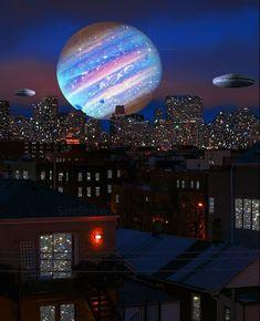 "Sara Shakeel on Instagram: ""Saving Tomorrow 🌌 🪐 . . . CollageArt SaraShakeel . . . #art #artwork #tomorrow #light #wonderland #imagine #imagination #creation #creative…"" Alien Invasion, Galaxy Wallpaper, Pretty Pictures, Surrealism, Fair Grounds, Sky, World, Gallery, Places"