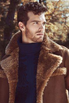 Bildresultat för Leather Sheepskin Shearling Coat