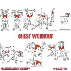 WORKOUT and logic exercises exercises that extends beyond the standard ben. -CHEST WORKOUT and logic exercises exercises that extends beyond the standard ben. Fitness Workouts, Pec Workouts, At Home Workouts, Workout Men, Triceps Workout, Weight Loss Workout Plan, Weight Training, Training Tips, Chest Workouts