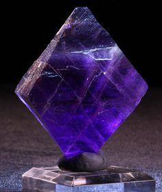 Large Deep Purple Fluorite Octahedron 142g by EtherWay on Etsy