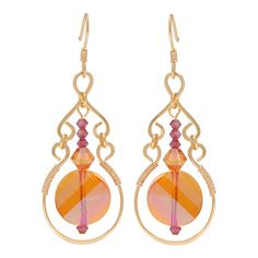 Show off your wire working skills by making this pretty pair of earrings. There is something very satisfying about making your own components for jewelry and this project has you doing just that - you will be making even the earring hook! The wire is then accented by SWAROVSKI ELEMENTS beads.