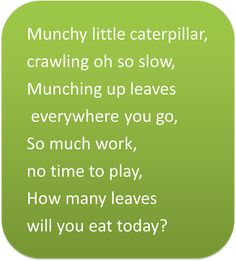 Early Childhood Education * Resource Blog: Meet Munchy the Hungry Caterpillar!