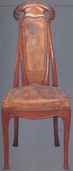 chaise avec pieds h lico dal style art nouveau art nouveau pinterest art nouveau chaises. Black Bedroom Furniture Sets. Home Design Ideas