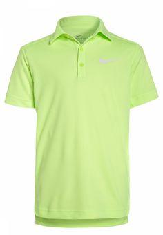 Nike Performance. DRY - Sportshirt - ghost green/white. Materiaal buitenlaag:100% polyester. Pasvorm:normaal. wasvoorschrift:machinewas tot 30°C. functie:ademend. Halslijn / kraag:polo. Totale lengte:56 cm bij maat 116-128. patroon:effen. Mouwlengte:kor...