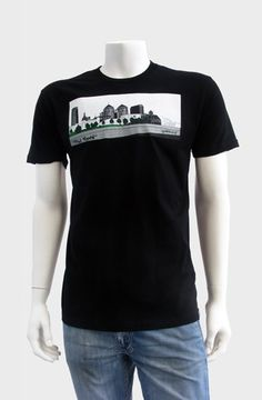 The Town (Black)  The Town Tee depicts the view of Downtown Oakland looking from West Oakland across the 980 freeway. Screen printed with 5 colors onto 100% combed cotton jersey premium fitted crew with custom tag on the hem. WRAP certified (worldwide responsible accredited production).  ...