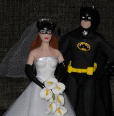 Batman and Bad Girl cake topper pick by SerendipityBySuzanne, $49.99
