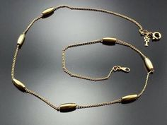 Vintage Crown Trifari Choker Gold Plated Station Necklace 1950s Estate Jewelry