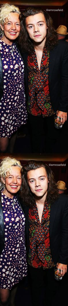 Harry Styles | attending Anotherman 10th anniversary party at LouLou's in London 6.15.15 | @emrosefeld |