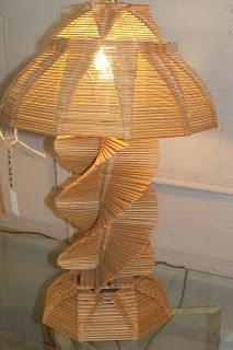 icecream sticks lamp shade