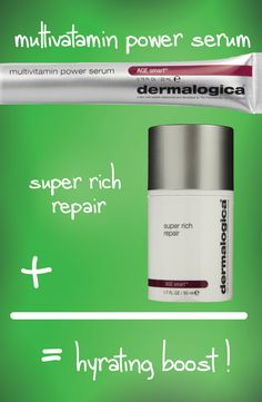 Mix Dermalogica's multivitamin power serum with super rich repair to give dry aging skin a hydrating boost! For more tips visit our skin bar bareessentialsskinbar.com 790 Richards St. #beskinhappy #Dermalogica