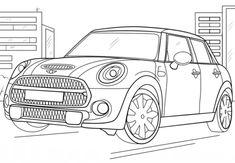 Ausmalbild/Malvorlage Auto Cabrio (Klicken für Großansicht