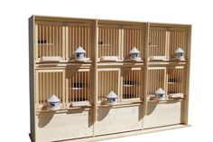 New motivation boxes with three sections - Hermes Pigeon Loft Equipment Pigeon Loft Design, Racing Pigeon Lofts, Pigeon House, Loft Plan, Racing Pigeons, Loft Interior Design, Purple Kitchen, Luxury Homes Dream Houses, Nesting Boxes