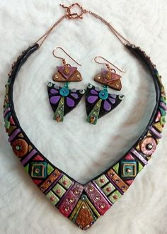 Polymer Clay Jewelry Sets - Geometric Bliss by Rebecca Doremus  - featured on Jewelry Making Journal