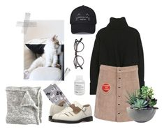 """""""cat mom's starter pack"""" by hanna-gilligan ❤ liked on Polyvore featuring Legale, Dr. Martens, Rough Fusion, Moscot and Davines"""