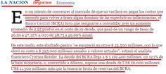 el blog de josé rubén sentís: al banco central se le encarece la deuda y no baja...