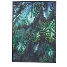 Bring nature inside with this tropical leaves picture that will transform any wall. Vivid green and blue tones fill this beautiful picture, great for adding a pop of colour and interest to any home. Wire Pendant Light, Barker And Stonehouse, Green Wall Art, Green Nature, Blue Tones, Lush Green, Tropical Leaves, Shades Of Green, Wall Canvas