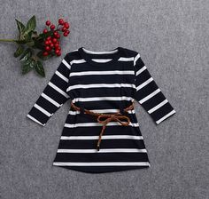 new summer children clothes girls dress baby princess long sleeve striped casual party dresses toddler kids clothing with belt-in Dresses from Mother & Kids on Aliexpress.com | Alibaba Group