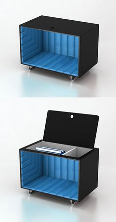 Magic in the bedroom. : Also, Want! Want! Want! : Bedside chest is a nicely designed mirror box illusion.