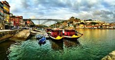 Welcome to Porto! #oporto #porto #river #bridge #boat #portugal #douro #hollidays #trip #roadtrip #hdr #afternoon #cloudy #clouds #vibrant #colorfull by juliocarriscajo