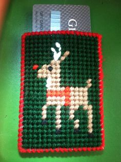Reindeer Gift Card Holder Christmas gift by TinetinesCreations