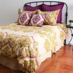 I pinned this Calypso Comforter Set from the Bright Bedroom event at Joss and Main! So pretty. If only it was cheaper. Home Bedroom, Bedroom Decor, Bedroom Ideas, Master Bedroom, Bedroom Interiors, Bedroom Inspiration, Color Inspiration, Boudoir, Up House