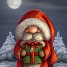 Pequeño Santa con un regalo
