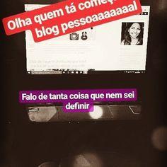 Tô aprendendo coisa pra carai hein! 😉  #temgenteaí #vireiblogueirinha #recomeço #façaoquequiser #wordpress  O link tá no perfil! 👊