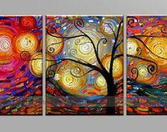 Pintura em tela quadro Abstrato Moderno