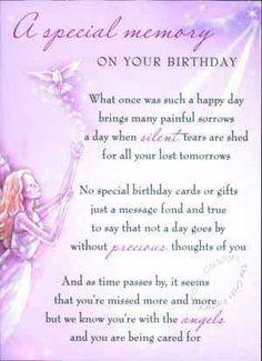In loving memory anniversary of loved ones death grief angels in heaven on pinterest happy birthday in heaven stopboris Choice Image