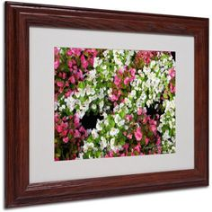 Trademark Art 'Begonia Garden' Matted Framed Art by Kathie McCurdy, Size: 11 x 14, Multicolor