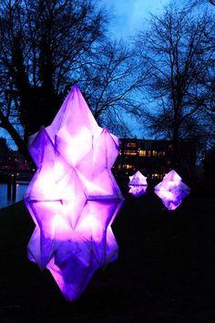 Foto gemaakt door Ineke Keyzer — presso Amsterdam Light Festival 2012.