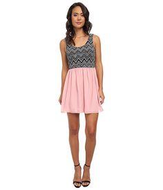 Trixxi Knit Twofer Dress