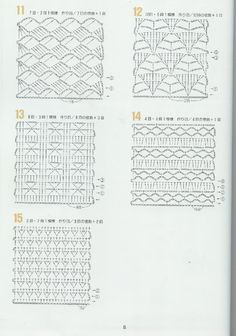 262 patrones crochet by karmittarte - issuu Crochet Motifs, Crochet Diagram, Crochet Stitches Patterns, Crochet Chart, Knitting Stitches, Stitch Patterns, Knitting Patterns, Crochet Flowers, Crochet Lace