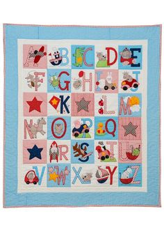ABC Quilt for Boys.