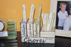 Wooden Decorative Chore Chart for 3 Children to by WhatAHoot11, $50.00