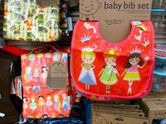 Baby Bib // Lunch Sack // Kids // Washable //  Princesses // Woodland Animals