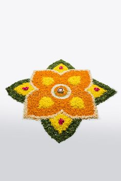 Stock photo of flower rangoli for diwali or pongal or onam. Flower rangoli for D , Indian Rangoli Designs, Rangoli Designs Flower, Rangoli Patterns, Rangoli Designs Images, Rangoli Ideas, Flower Rangoli, Beautiful Rangoli Designs, Flower Designs, Welcome Home Decorations