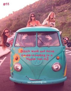 Repin if you want to ditch work and drive cross-country in a hippie van!    <3    #scensiblesbags #freedom #bucketlistmondays