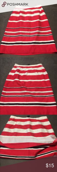 Harolds striped pencil skirt Red, white & black striped pencil skirt. Size 6. Harolds Skirts Pencil