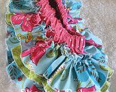 Sassy Pants Ruffle Diaper Cover Panty    Candy Shop. $32.00, via Etsy.
