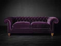 sofa-purple-velvet-chesterfield-tufted-back-home-decor-ideas