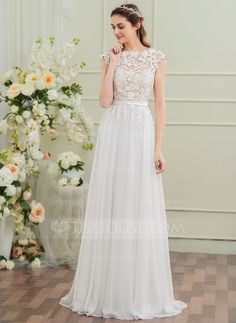 JJsHouse as the global leading online retailer provides a large variety of wedding dresses wedding party dresses special occasion dresses fashion Wedding Dress Chiffon, White Wedding Dresses, Wedding Party Dresses, Wedding Dress Sleeves, Lace Wedding, Homecoming Dresses, Bridesmaid Dresses, Robes D'occasion, Women's Fashion Dresses