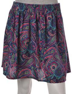 Vintage Beyond Retro Label Mini Skirt Purple With An Elasticized Waist | Beyond…