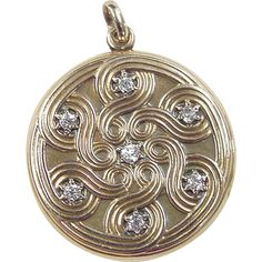 Victorian 14k Gold .36 ctw Diamond Locket
