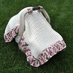 Crochet Pattern 1306 Waffle Stitch Car Seat by HeathersCraftCorner