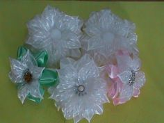 Школьные Банты 2 Мастер класс Канзаши / Bows school kanzashi. Hair Style kanzashi - YouTube