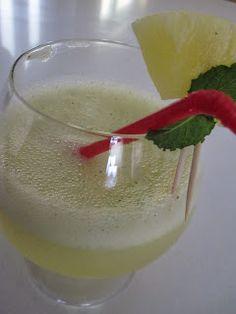 Receitas Especiais: Cocktail de Ananás e Hortelã - Sem Álcool