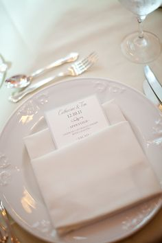 Having the menus between the napkins ready for our clients when they arrive at their tables.