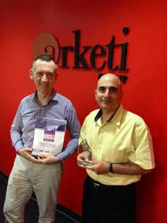 Principals Rory Carlton and Sami Jajeh with Arketi's Best and Brightest Companies To Work For award.